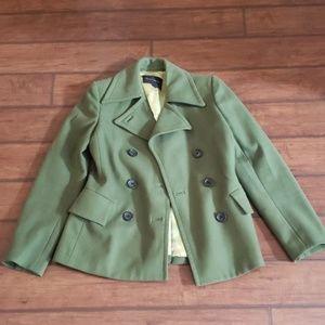 Banana Republic green pea coat xs